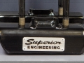 Authentic Superior logo and black powder coat finish