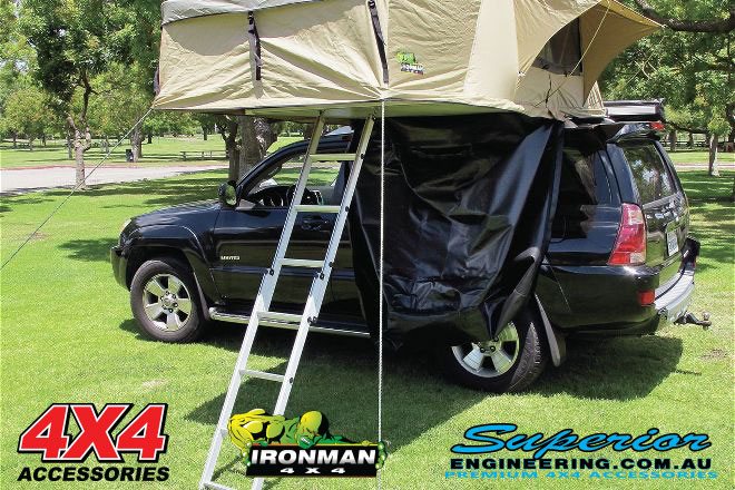 The roof top tent stays well ventilated