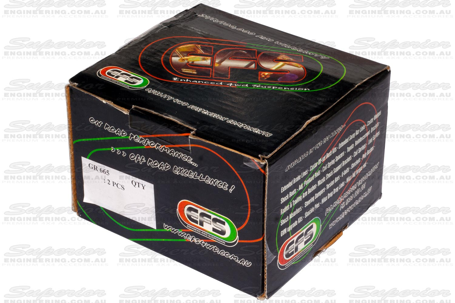 Unopened box containing a set of EFS Shackles