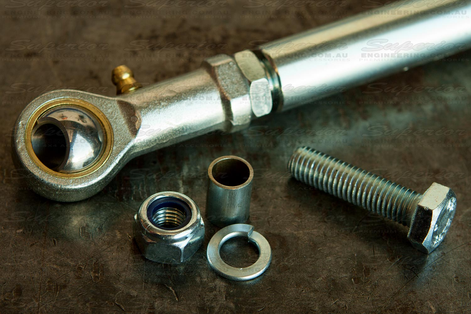 The necessary hardware and fittings for the swaybar extension