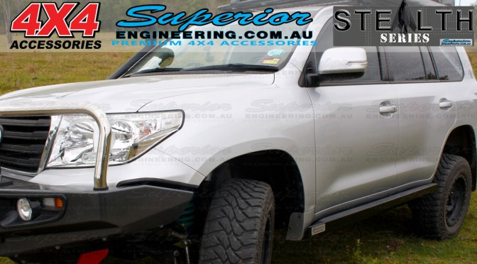 Stealth Rock Sliders Toyota Landcruiser 200 Series