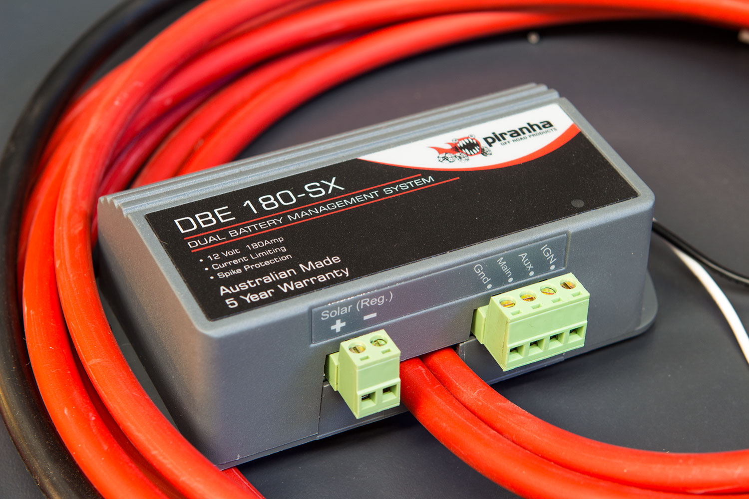 Piranha Offroad Dual Battery Management System - DBE180-SX - With Cables Showing