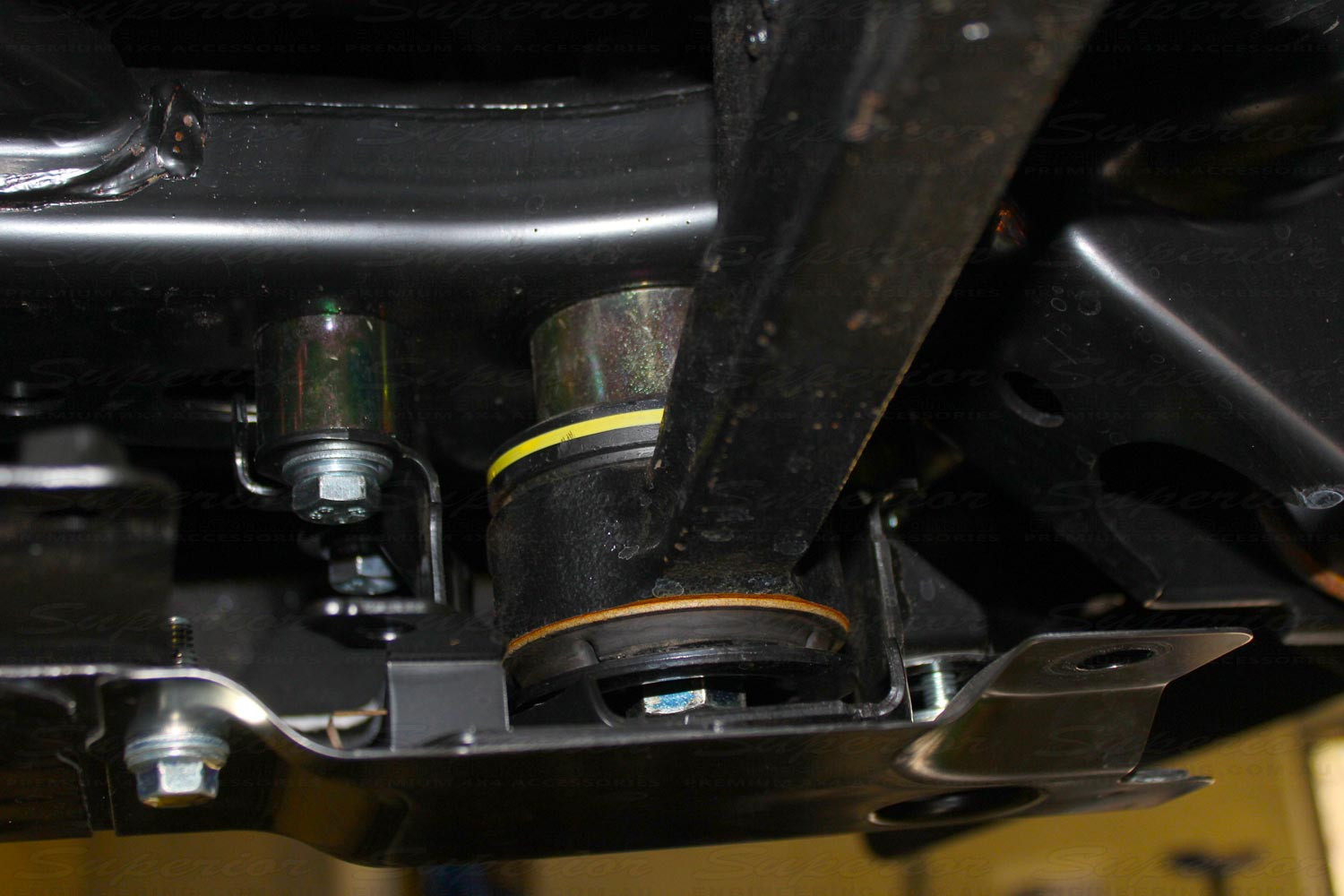 Superior Diff Drop spacers fitted to the 200 Series Landcruiser