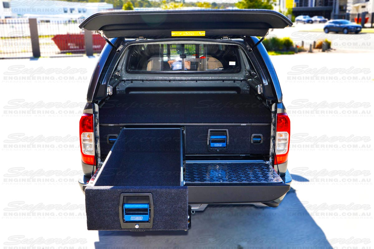 25% more internal drawer space with equivalent external frame dimensions means these are big enough to fit all your 4x4 gear