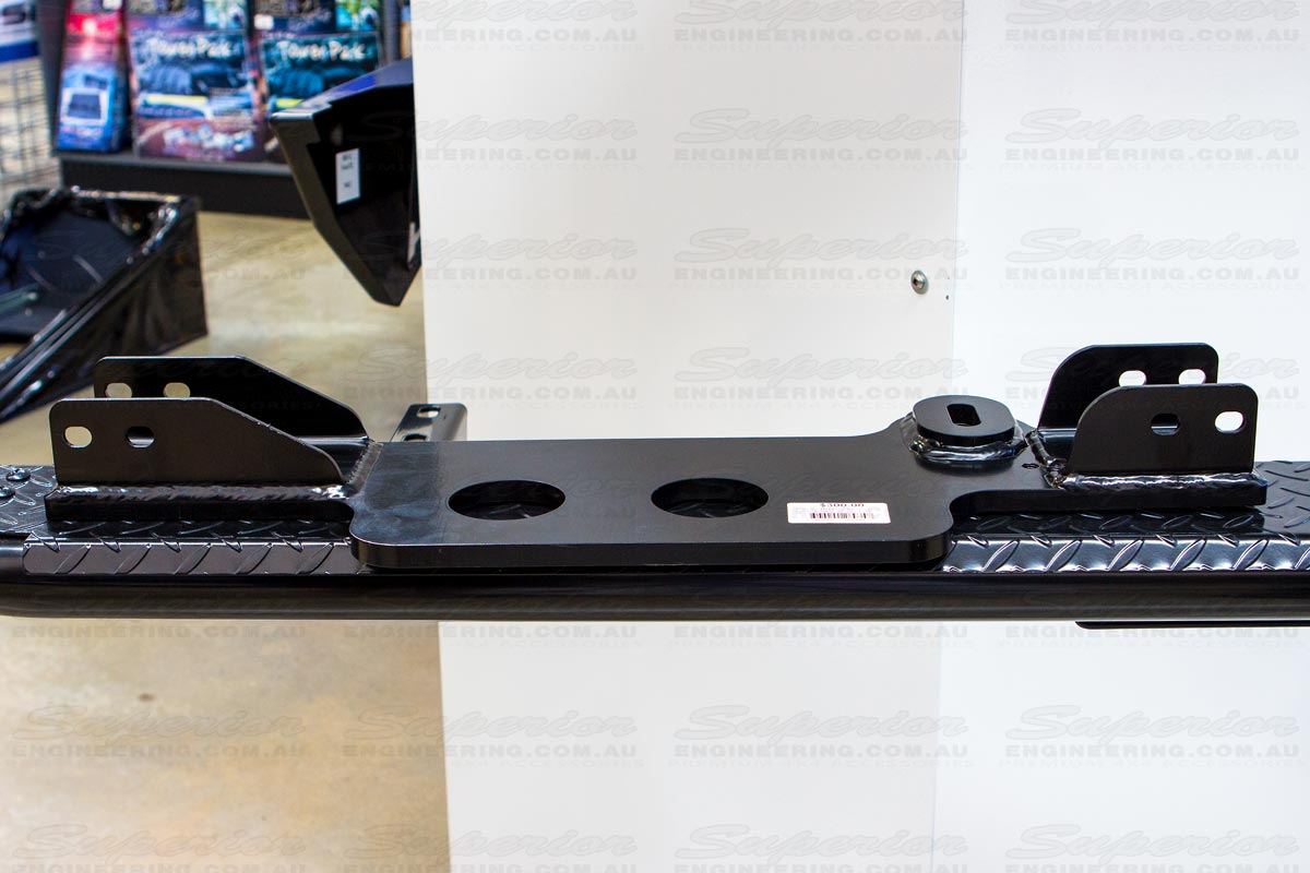 Laser cut and cnc pressed Diff Drop bracket on display at the Superior 4WD showroom